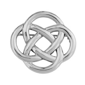 Celtic Knot Silver Brooch 0638